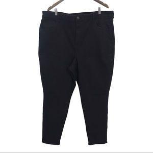AEO Black Curvy High Rise Jeans Jeggings Plus 24